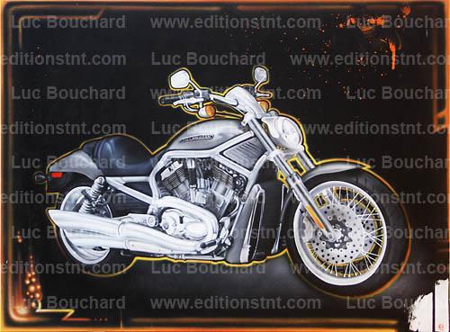 toile-graffiti-art-peintre-hip hop-moto-harley davison