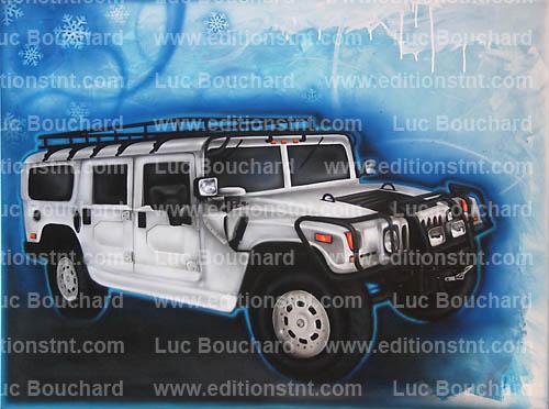 toile-graffiti-art-peintre-hip hop-voitures-hummer