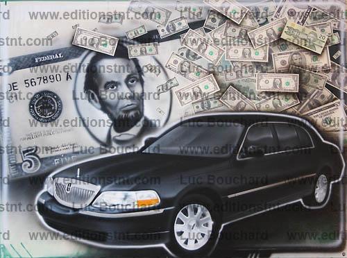 toile-graffiti-art-peintre-hip hop-voitures-lincoln