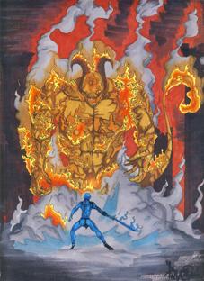 feu enfer graffiti bande dessine