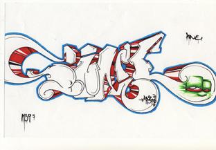 graffiti classique aert d ela rue hip hop artiste bande dessine