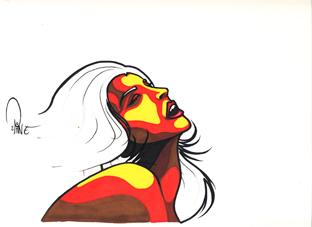 femme extase bande dessinee graffiti artiste