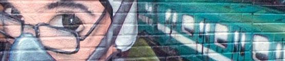 photographie murale graffiti artiste arpi graffiteur art