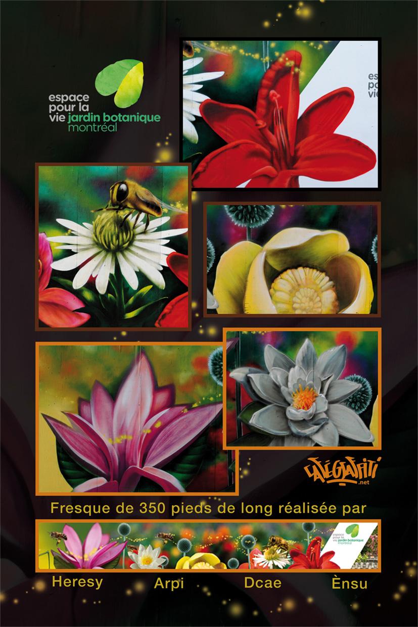 affiche jardin botanique de montréal murale stade olympique