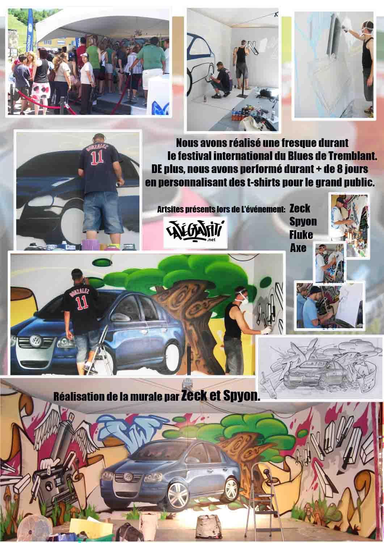Affiche - Art mural au festival International de Blues de Mont-Tremblant