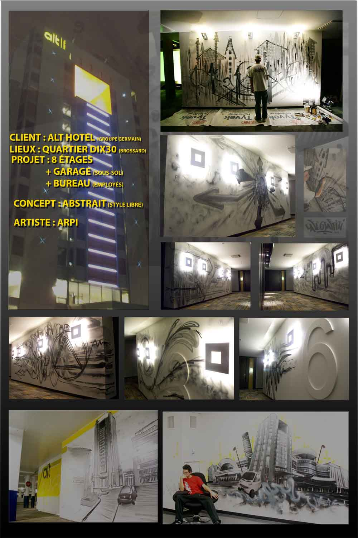 Affiche graffiti Hôtel Alt Quartier Dix30