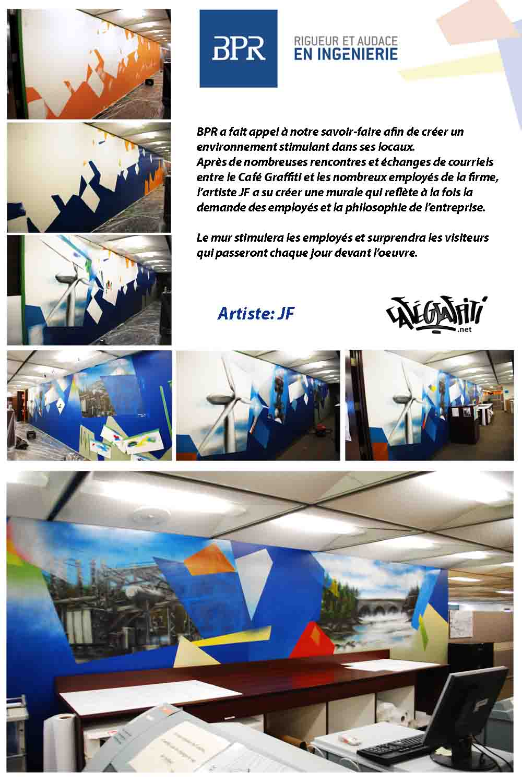Affiche Graffitis, firme d'ingénierie BPR