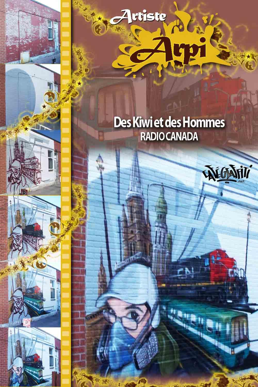 Affiche murale émission Des kiwis et des hommes à Radio-Canada