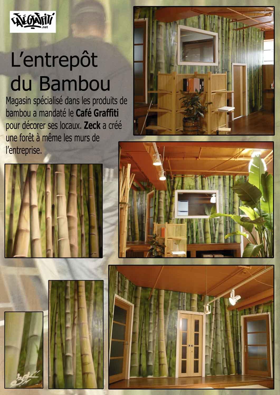 Affiche murale Entrepôt du bambou