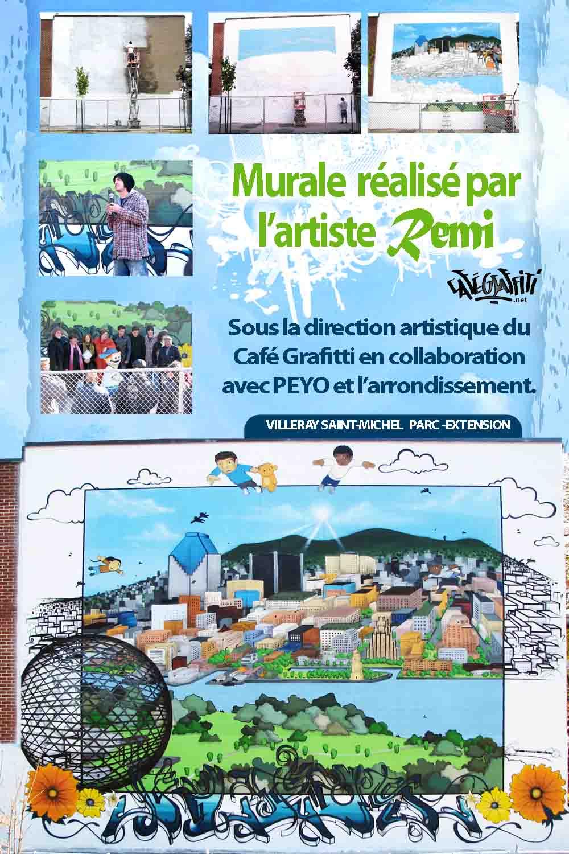 Affiche murale Villeray Saint-Michel Parc-extension PEYO