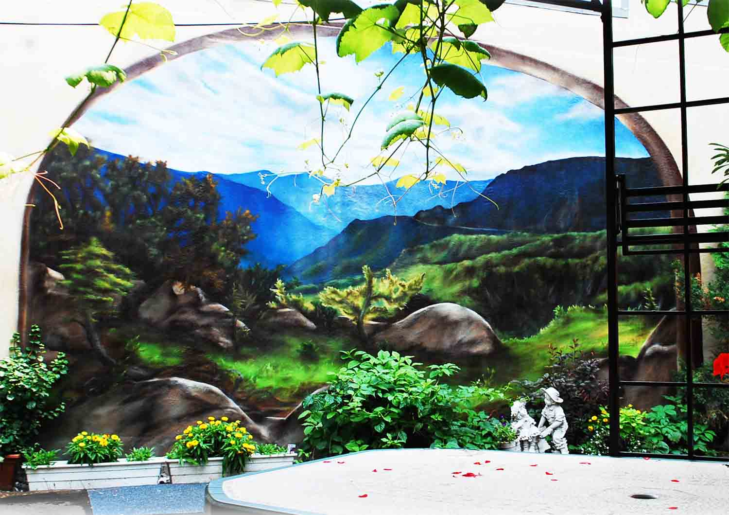 Paysage panoramique mural rue Clark
