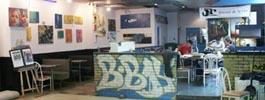 photographie galerie art toile ancien cafe graffiti